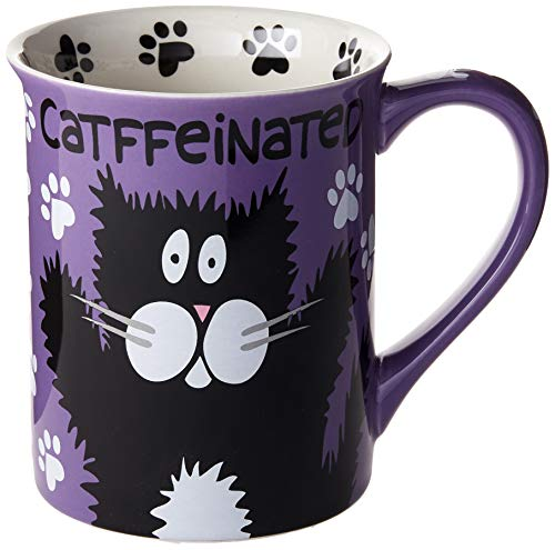 "Our Name is Mud ""Catffeine"" Stoneware Mug,"