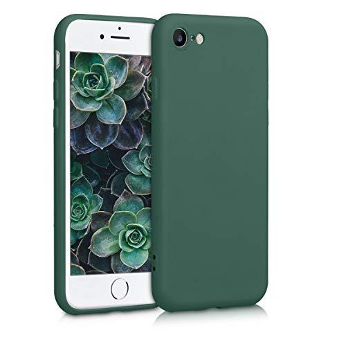 kwmobile Cover compatibile con Apple iPhone 7/8 / SE (2020) - Custodia in Silicone Effetto Gommato - Back Case Protezione Cellulare - verde muschio