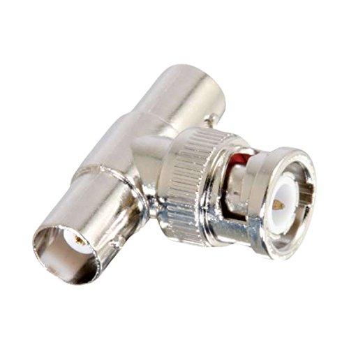 C2G 02047 50 Ohm BNC F/M/F T-Adapter, Silver
