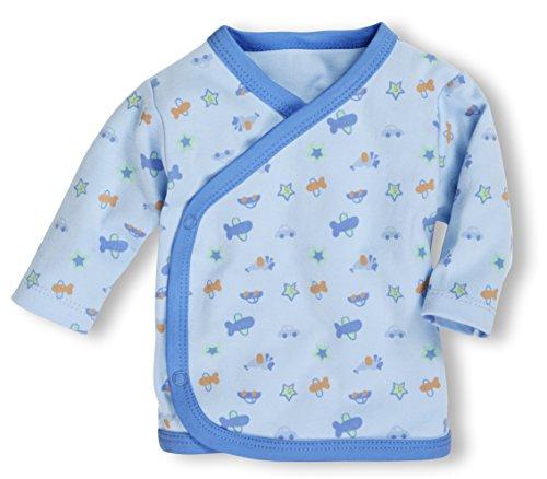 Playshoes GmbH Schnizler Baby-Unisex Flügelhemd Langarm Allover Hemd, Blau (bleu 17), Frühchen (Herstellergröße: 44)