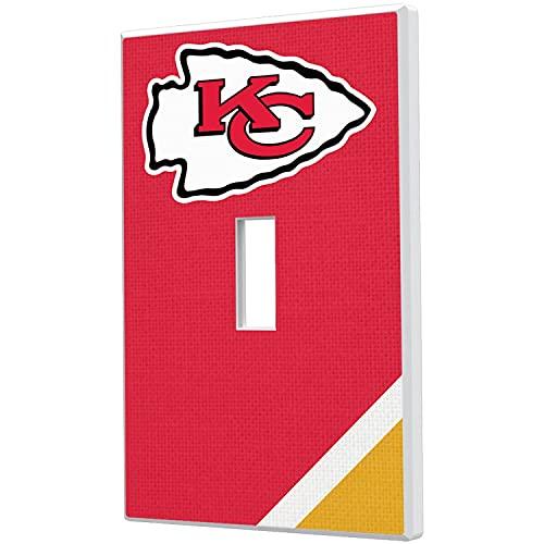 Kansas City Chiefs Diagonal Stripe Single Toggle Light Switch Plate -  Strategic Printing, 3523661-505