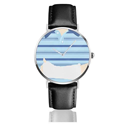 Dear Evan Hansen Montre à quartz unisexe classique et décontractée en acier inoxydable avec bracelet en cuir