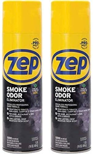 Zep Smoke Odor Eliminator Aerosol ZUSOE16 (Pack of 2) - Eliminate Cannabis (Marijuana) and Tobacco Odors