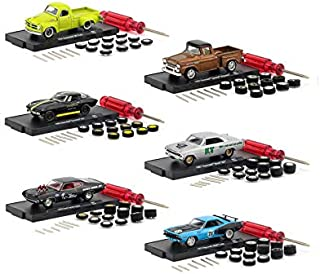 Auto Wheels Release 7, 6 Car Set in Blister Packs 1/64 Diecast Model Cars by M2 Machines 34001-07