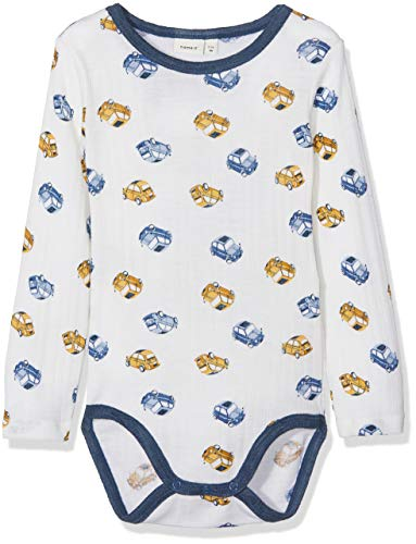 NAME IT Nbmwang Wool Needle LS Body Noos Polaina para Bebés