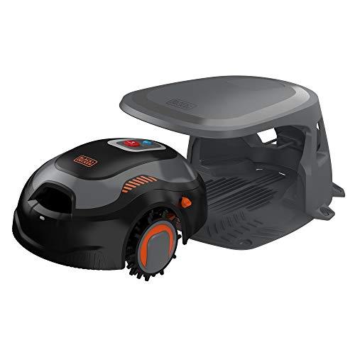 BLACK+DECKER BCRMW123-QW Robot Cortacésped gama alta con limpiador, caseta y una batería 12V 4,3Ah Litio. Para 700m2