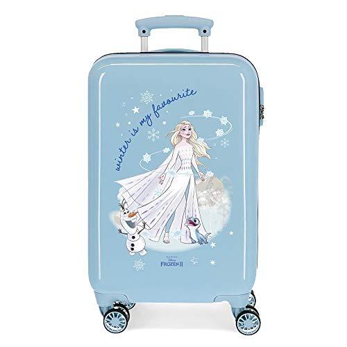 Disney Frozen Adventure Of My Mind Valigia da cabina blu 34 x 55 x 20...