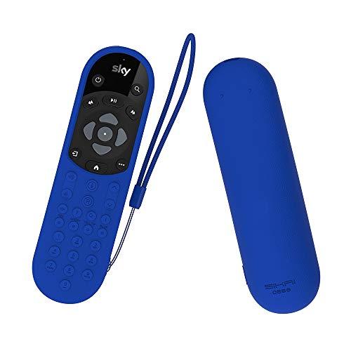 SIKAI CASE Schutzhülle mit gutem Griff, kompatibel mit Sky Q-Fernbedienung mit Sprachsteuerung, stoßfest, kratzfest, passt wie ein Handschuh mit Anti-Verlust-Handschlaufe blau