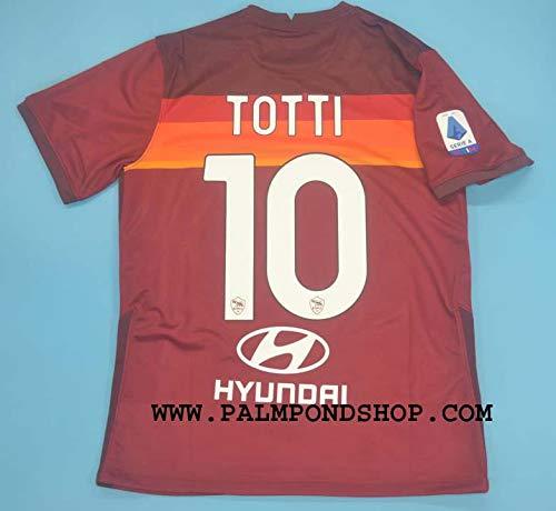 ZA Francesco Totti Roma Soccer Jersey Trikot 2020-2021 Size L Full Patch