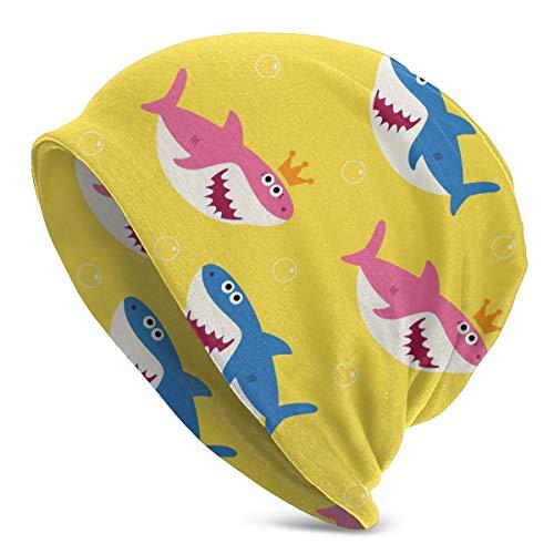 JOJOshop Leuke baby haai patroon muts voor mannen en vrouwen winter warme hoeden zwart