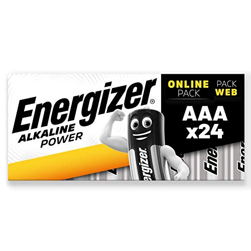 Energizer Batterie AAA, Alkaline Power, Confezione da 24