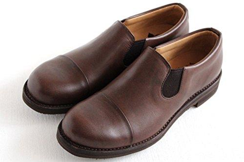 [ムカヴァ] キャップトゥスリッポンシューズ MU-968 dark brown(ダークブラウン) (23cm)