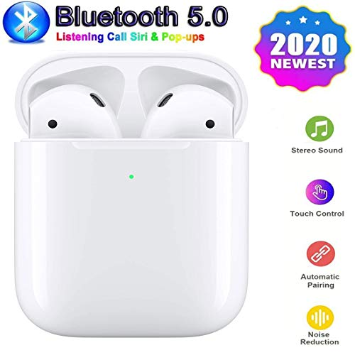 Bluetooth Earbuds 5.0 in-Ear Wireless Sports Headphones Stereo Sound Sweatproof Earphones with Charging Case for Sports Running Compatible for Airpods/Android/iOS