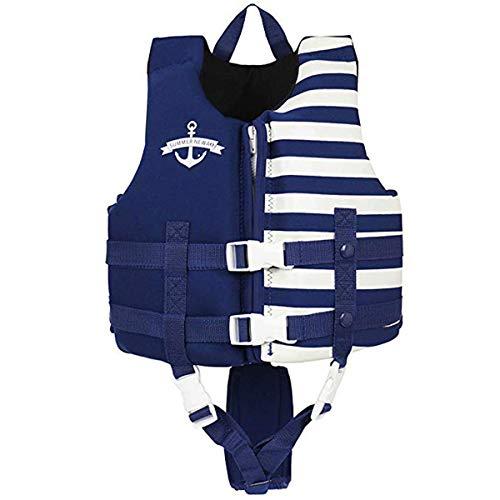 OldPAPA Kinder Schwimmjacke, Schwimmende Badeanzug für Baby Kleinkind Kinder Schwimmanfänger Schwimmbad Strand Sommer Wassersport(Dunkelblaues S)