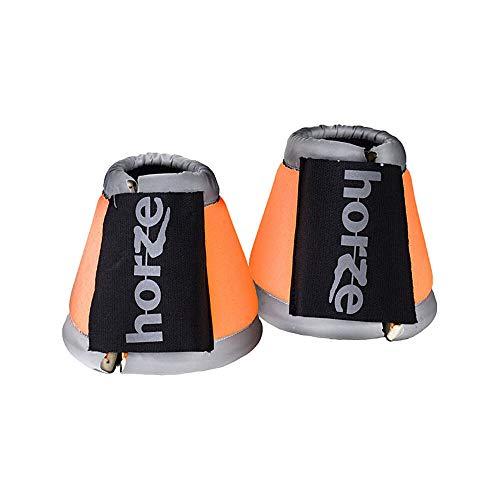 horze bZeen reflektierende Hufglocken, Orange, XL