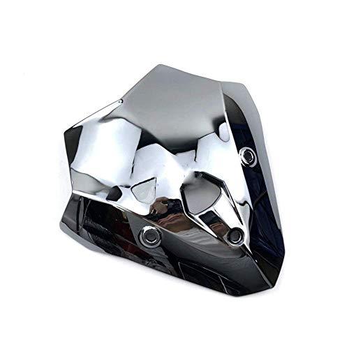 Zubehör & Teile Windschutzscheibe Double Bubble, Fit für F900R 2020 F900 R 2020 Motorrad Kunststoff Smoke Windschutzscheibe Baffle Windabweiser (Farbe: Chrom)