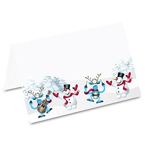 PRICARO Segnaposti 'Danza natalizia', 50 pezzi