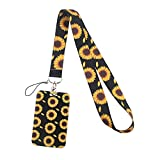ID Badge Holder with Lanyard for Women with Hard Shell Card Case, Premium Soft Fabric Neck Lanyard for Keys with Metal Lobster Clasp