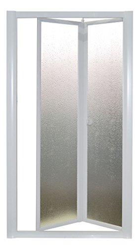 wohnfuehlidee Nischentür | Nischendusche | Duschwand | Domi | Acryl-Glas/Kunststoff | Fb. Weiss Größe 83-90 cm