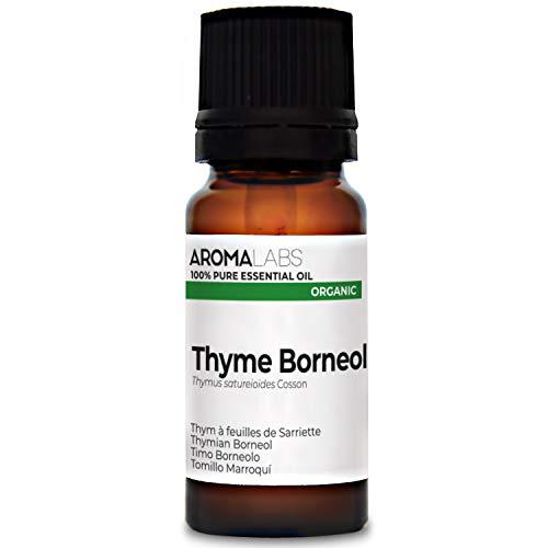 Aroma Labs Timo Borneolo Bio - 10Ml - Olio Essenziale Bio E Naturale Al 100% - Qualità Verificata Mediante Cromatografia - Aroma Labs - 10 ml