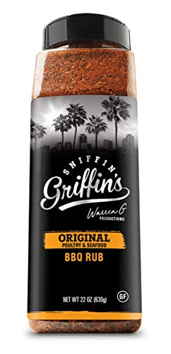 Sniffin Griffins All Purpose Rub - All American Seasoning Mix, Dry Beef Rub Perfect for Smoking, Grilling, Cooking (Original - Poultry & Seafood, 22oz)