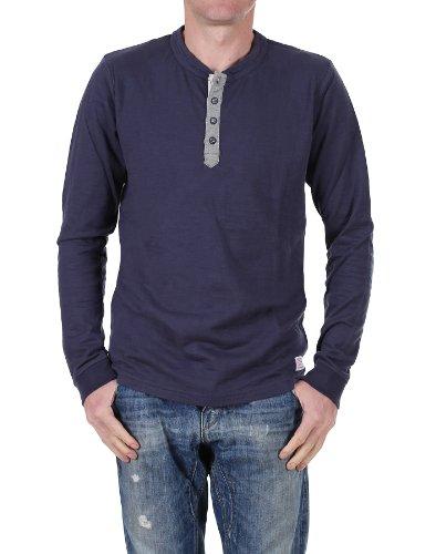 Jack and Jones 7-8-9 13 Ttt T-shirt vintage à manches longues Indigo