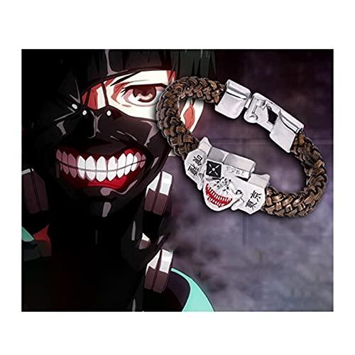 Withou Tokyo Ghoul Arma Cosplay, 20cm Aleación de Zinc + Pulsera de cordón de Cuero, Halloween Decoracion