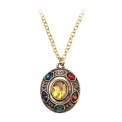 Runde Gold Kristall Anhänger Halskette Für Frau Junge Kampf Ultimative Halskette Kettenglied Schmuck Modeschmuck