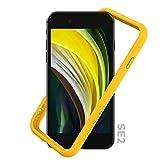 RhinoShield Funda Bumper Compatible con [iPhone SE2 / SE (2020) / 8/7] | CrashGuard NX - Carcasa con Tecnología de Absorción de Golpes - Resistente a Impactos de más de 3.5 Metros - Amarillo