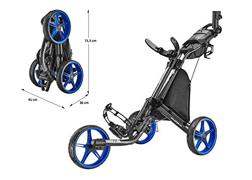 CaddyTek EZ Tour Quickfold Deluxe 3-Rad Golftrolley - 4