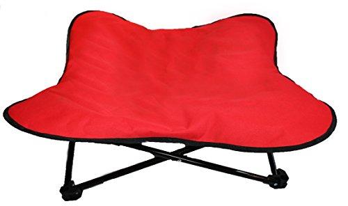 Cama acolchada para perro, elevada, portátil, plegable, ideal para acampada y...