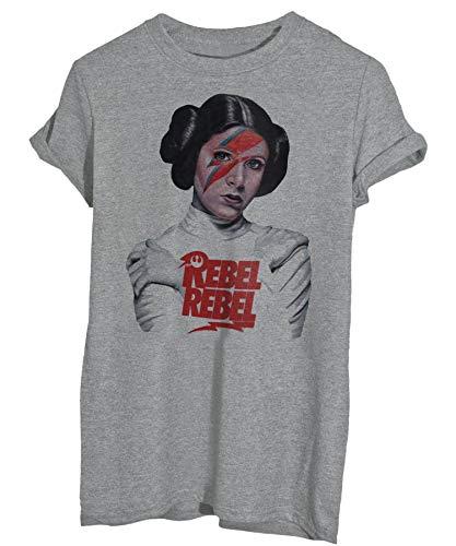 iMage T-Shirt Rebel Rebel Leila-David Bowie - Film - Donna-S-Grigio Sport