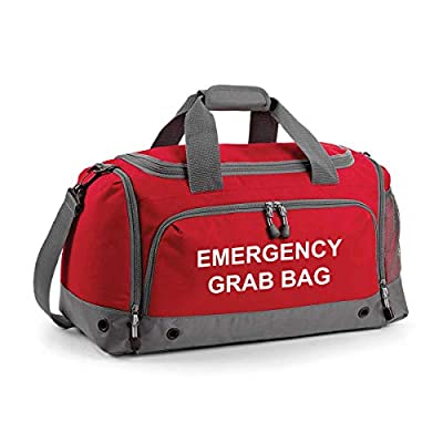 Emergency Grab Bag Printed Home Evacuation & Car Winter Safety Kit Holdall Bag from