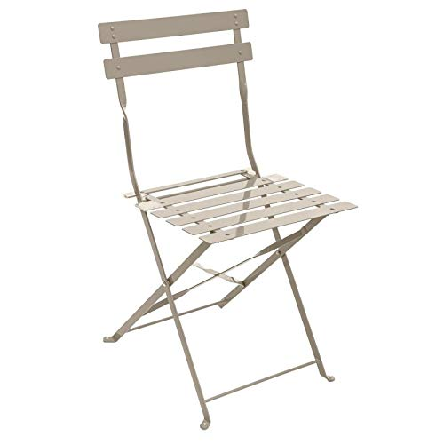 Hespéride Chaise métal Camargue Taupe
