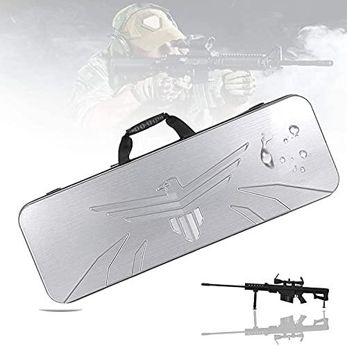 LSWY Almacenamiento premium para pistolas, estuche acumulado con impermeable y resistente a los arañazos, mango de goma, funda de escopeta para rifle, entrenamiento táctico, pesca, deporte de tiro, 90