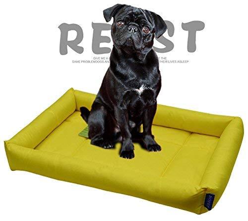 NANIH PetSuppliesMisc Hundekomfort-Bett-Selbstkühlungs-Auflage-Haustier-Kühlvorrichtung Kühlbett-Haustier-Kühlmatte (Gelb, L) für Katze/Hund - 2