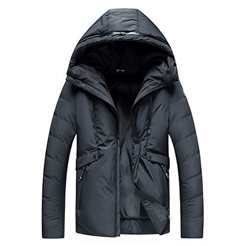 Review Redacel Men Black Warm Cotton Winter Snow Coat Mountain Snowboard Windbreaker Hooded Jacket (...