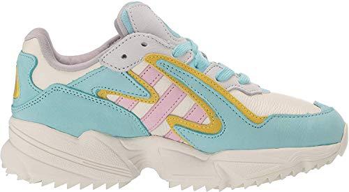 adidas Originals Yung-96 Chasm Chunky Schuhe für Herren, Weiá (Off-White/Clear Pink/Bright Yellow), 44 EU