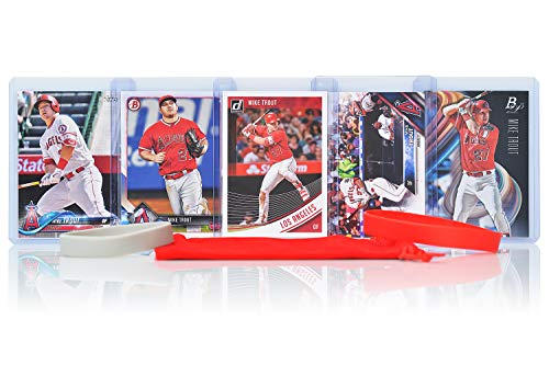 Mike Trout (5) Assorted Baseball Cards Bundle - Los Angeles Angels of Anaheim Trading Cards