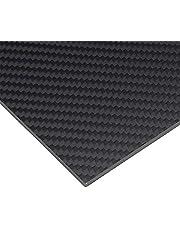 AFuex Hoja de Panel de Placa de Fibra de Carbono de Fibra de Carbono Completa 3K,200x200mm,0.3mm