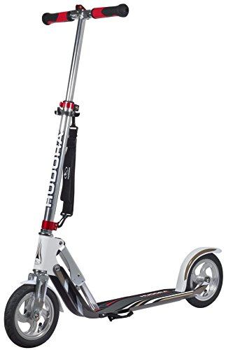 HUDORA 14005 BigWheel Air GS 205 Luftreifen Big Wheel Tret-Roller City Scooter, Silber/weiß, 1size