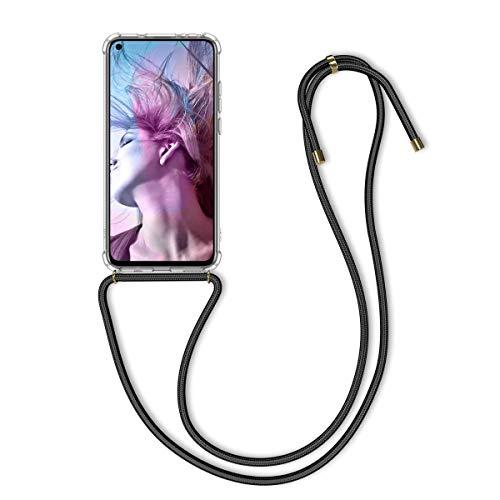 kwmobile Hülle kompatibel mit Huawei Honor View 20 - mit Kordel zum Umhängen - Silikon Handy Schutzhülle Transparent