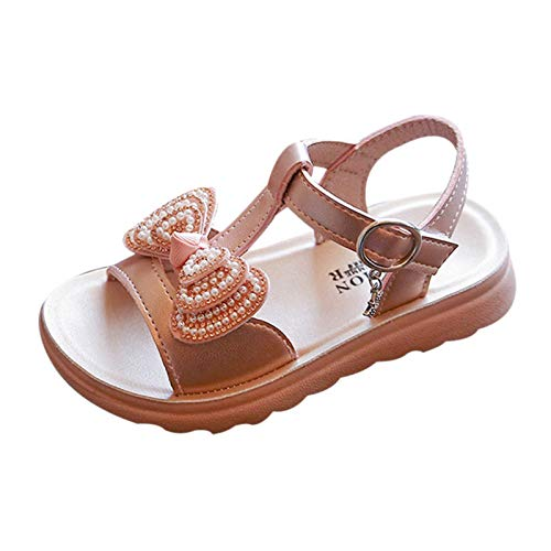 Baby Toddler Girls Summer Princess Sandals for 1-10 Years Old Kids Children Pearl Bling Sequins Casual Shoes (18-24 Months, Hot Pink)
