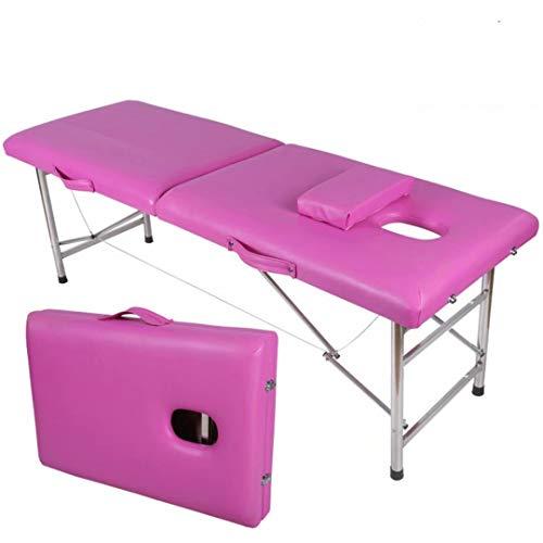 Massageligstoel voor massagestoel, inklapbaar, 2 zones, eenvoudig te installeren, voor Reiki Healing Tattoo Massage Thais Zweeds 13,5 kg Roos Rood