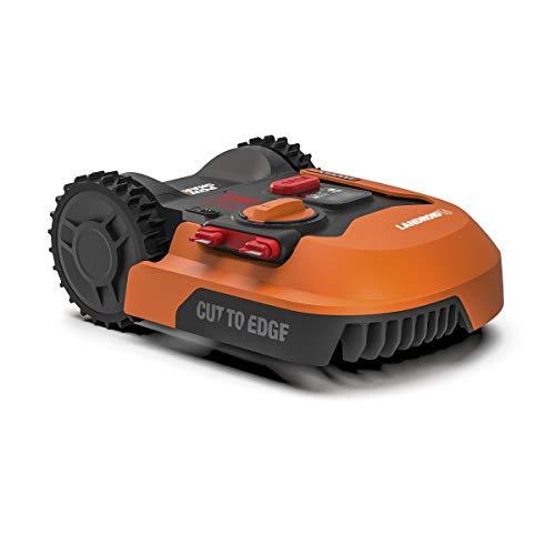 WORX - Tondeuse Robot connectée sans Fil LANDROID - WR142E - jusqu'à 700m² (Installation Facile, tond sous la Pluie, Autonome, contrôle à Distance, Tonte Intelligente avec Coupe près des Bordures)