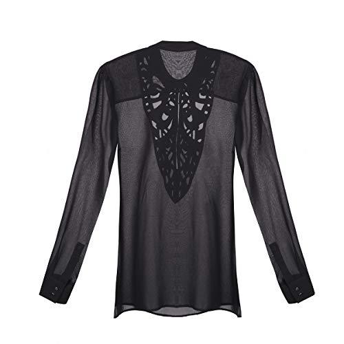 Guess LS Cecilia SHIRT-W63H45W64G0 Camisa, Negro (A996 Noir/Jet Black A996), XS para Mujer