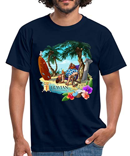 Hawaii Travian Kingdoms Männer T-Shirt, 3XL, Navy
