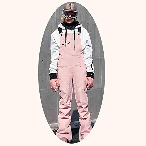 WLD Pantalon De Ski bis Plaque En Simple Salopette Snowboard Usure Vent Imperméable Chaud En Velours Slim Couples Ski Costume Vent Chaud/A/Female M