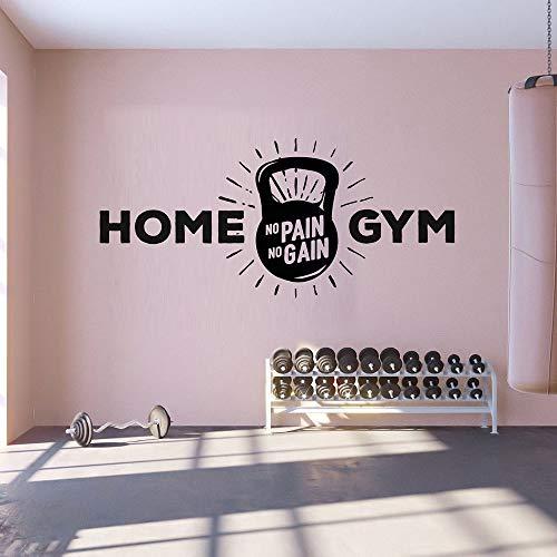 Calcomanías de pared para gimnasio en el hogar, hombre, cueva, niños y niñas, signo de fitness para la pared, calcomanía de vinilo para decoración de pared, 43 x 20 cm