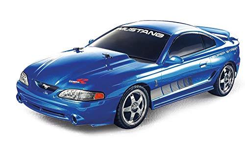 TAMIYA 300047430 1:10 Mustang SVT Cobra R '95 (TT-01E), ferngesteuertes Auto, RC Fahrzeug, Modellbau, Bausatz zum Zusammenbauen, Hobby, Basteln